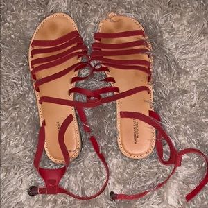 American Eagle ankle strap sandals